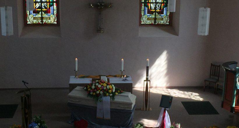 Trauerfeier ev. Kirche Okriftel